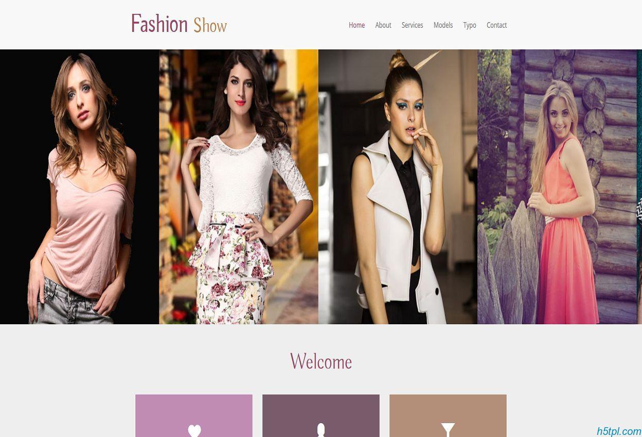 服饰展示大赛网站模板是一款html模板,适合服装公司模特展示网站模板