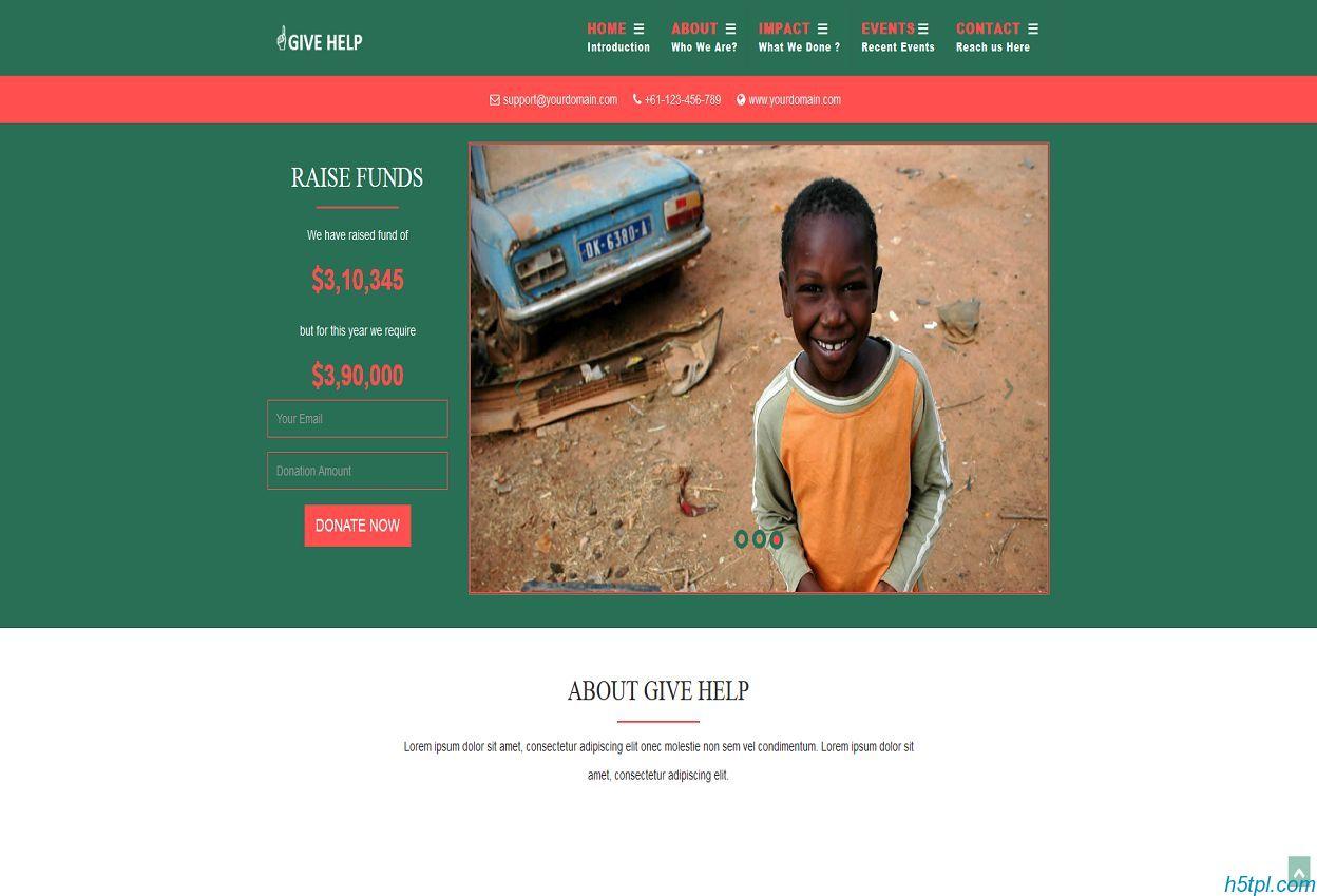 贫困儿童救助网站模板是一款CSS3模板,适合爱心关注贫困儿童救助网站使用