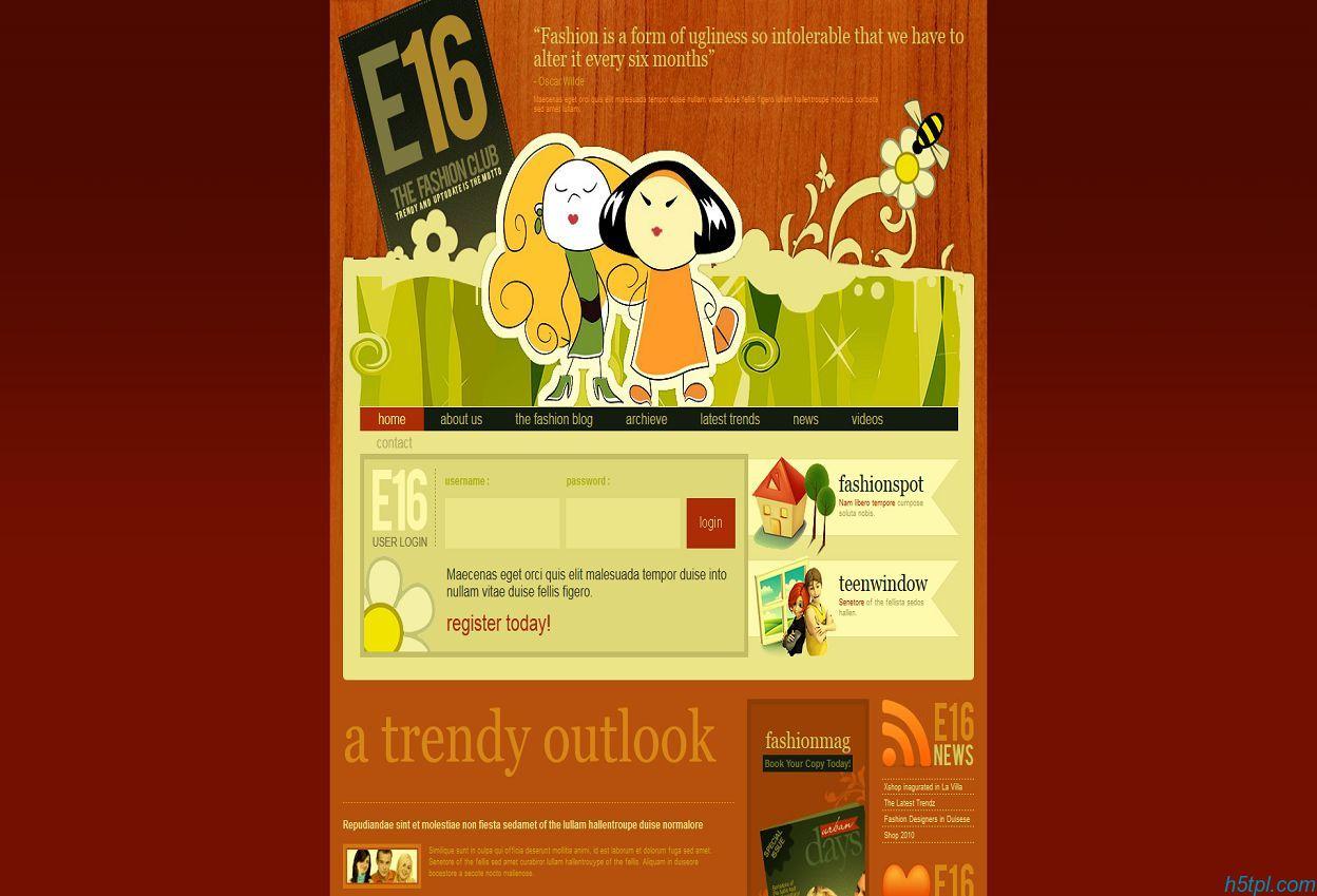 橙色卡通CSS网页模板是一款适合做儿童网站的卡通动漫模板