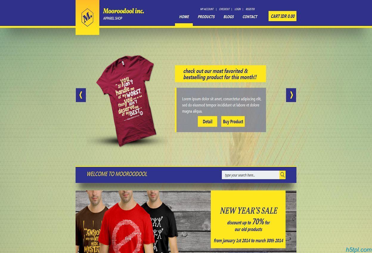 服装设计公司网站模板是一款男士上衣设计公司网站模板