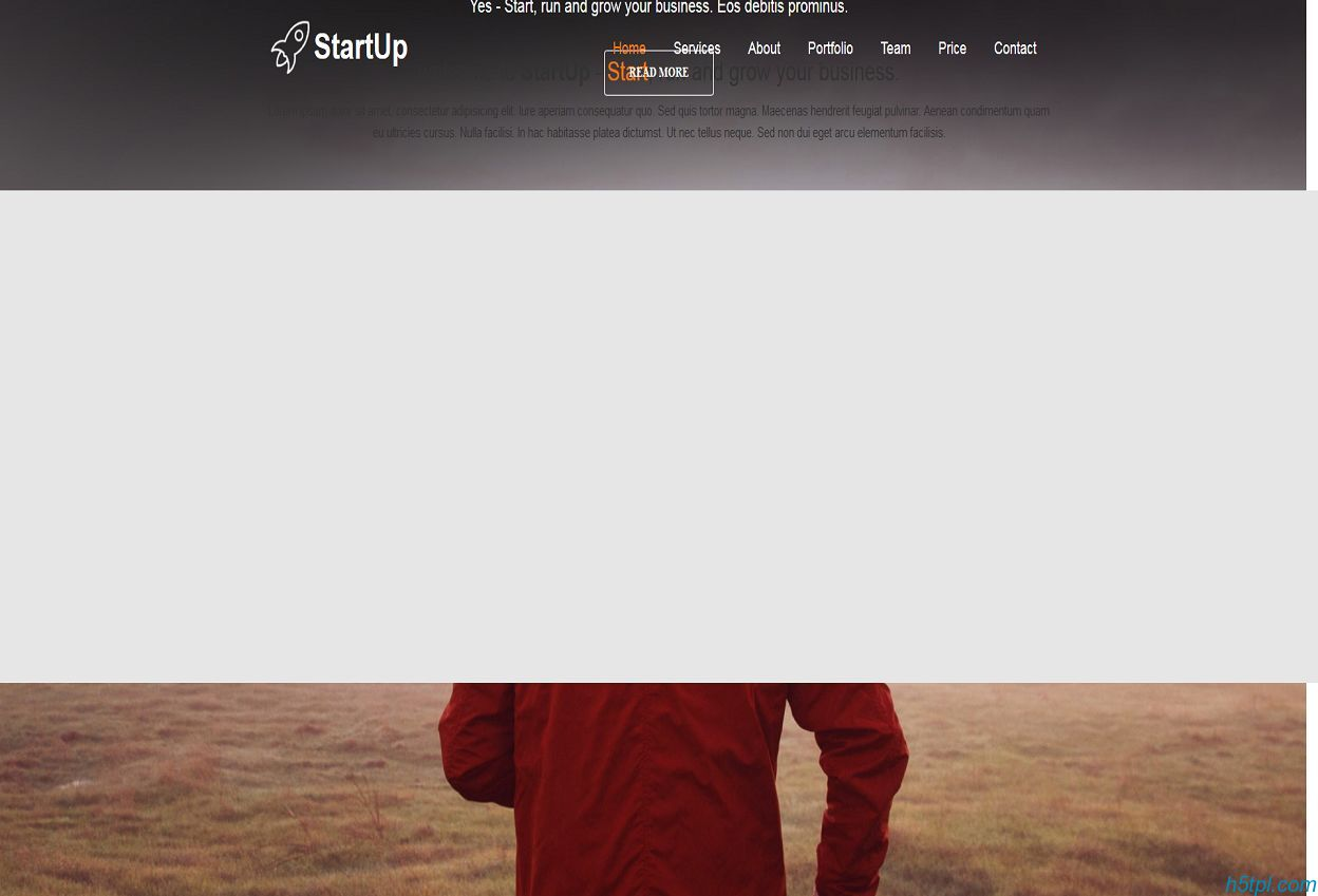 bootstrap单页面模板是一款适合科技公司单页网站模板下载