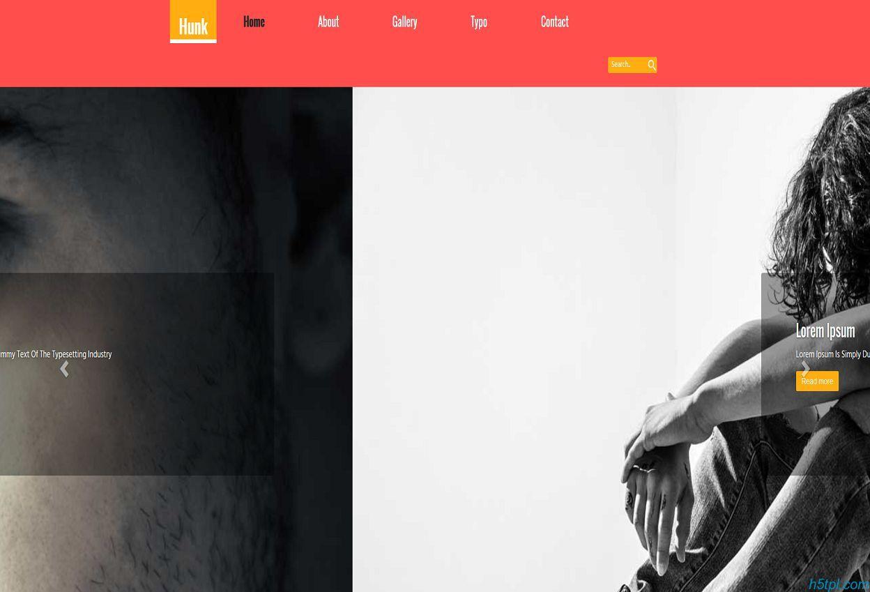 粉色简洁服装模特写真公司网站模板