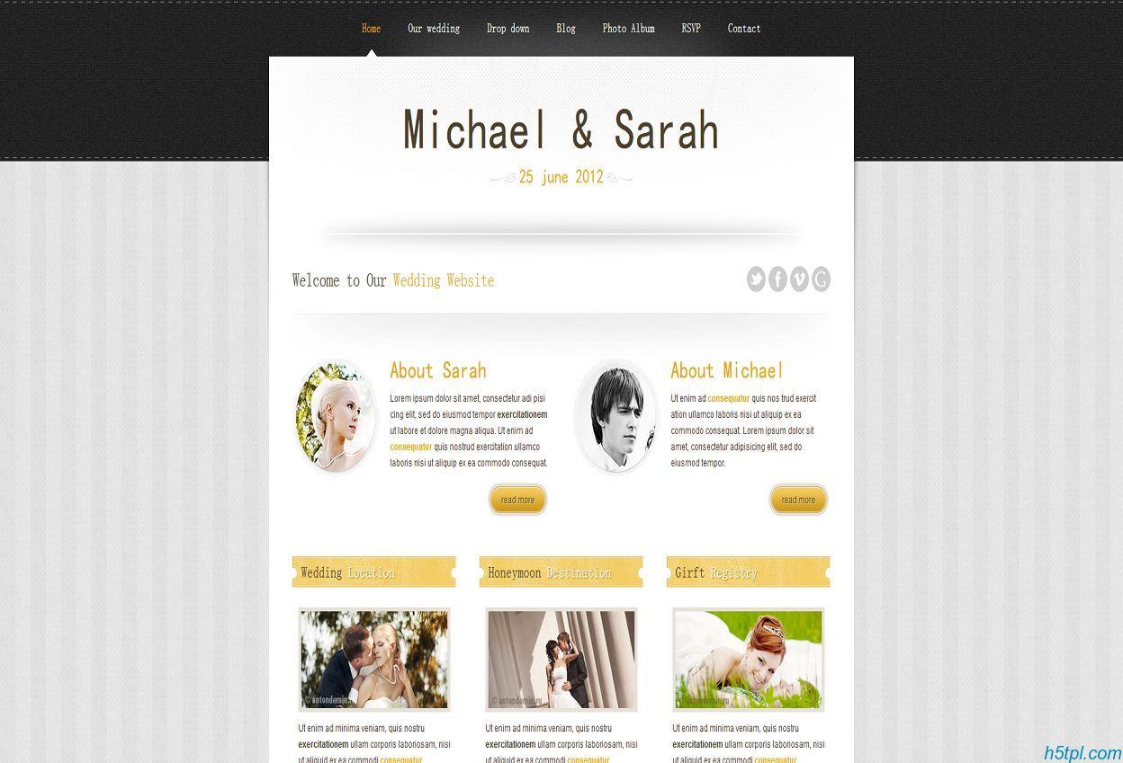 交友婚嫁行业网站模板是一款大气的交友婚嫁行业网站整站模板
